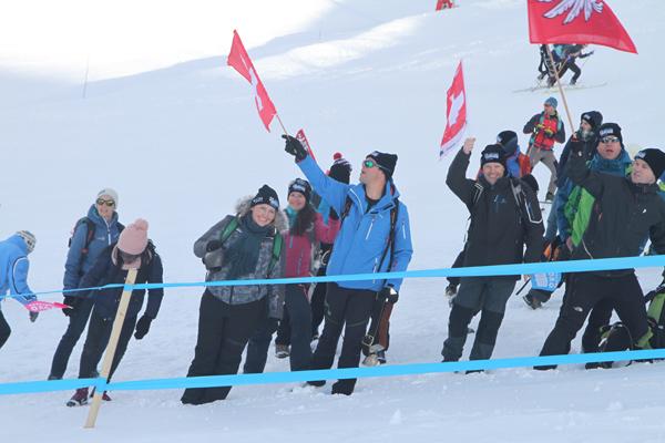 Les supporters suisses à Bretaye